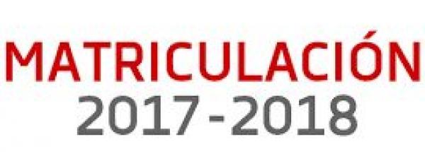 Matricula curso 2017-18: Oferta Formativa