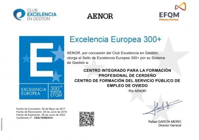 Renovamos EFQM 300+ Excelencia y Calidad